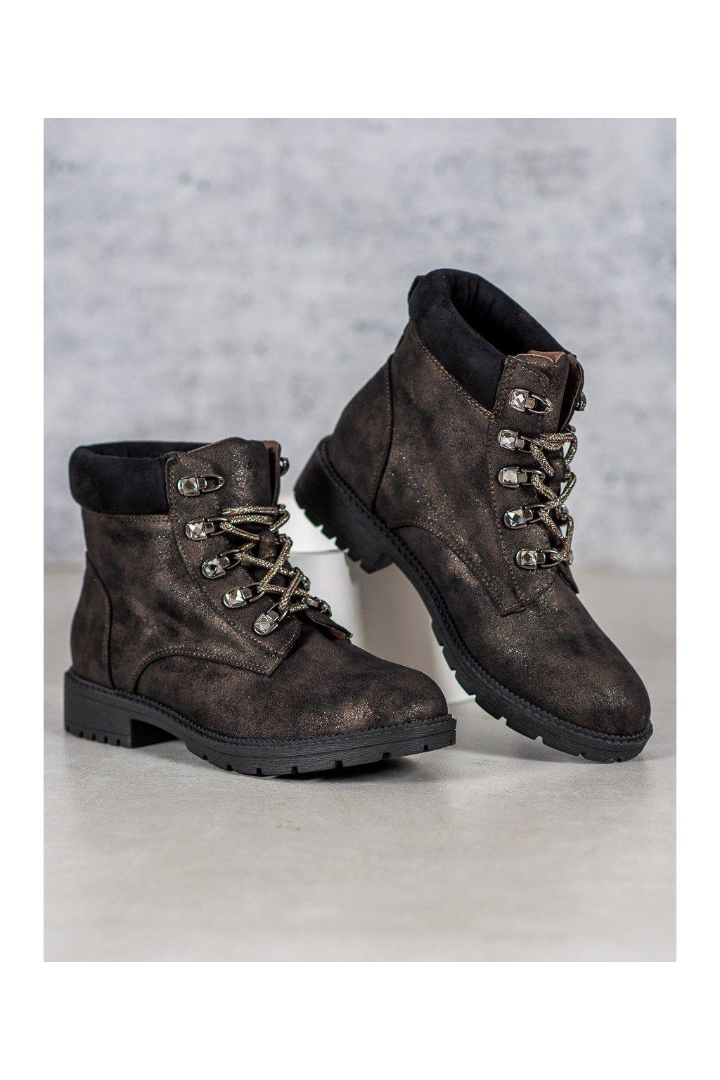 Hnedé dámske topánky Vices kod 2222-18KH
