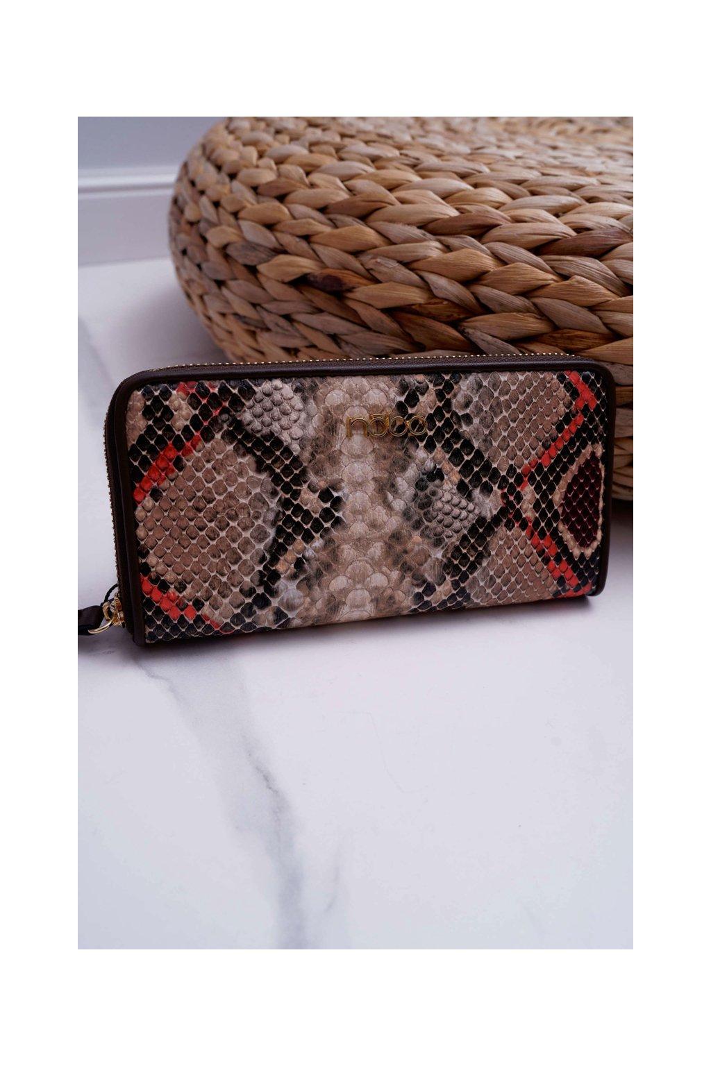 Peňaženka farba hnedá kód NPUR-H0060-CM17 MULTI BROWN