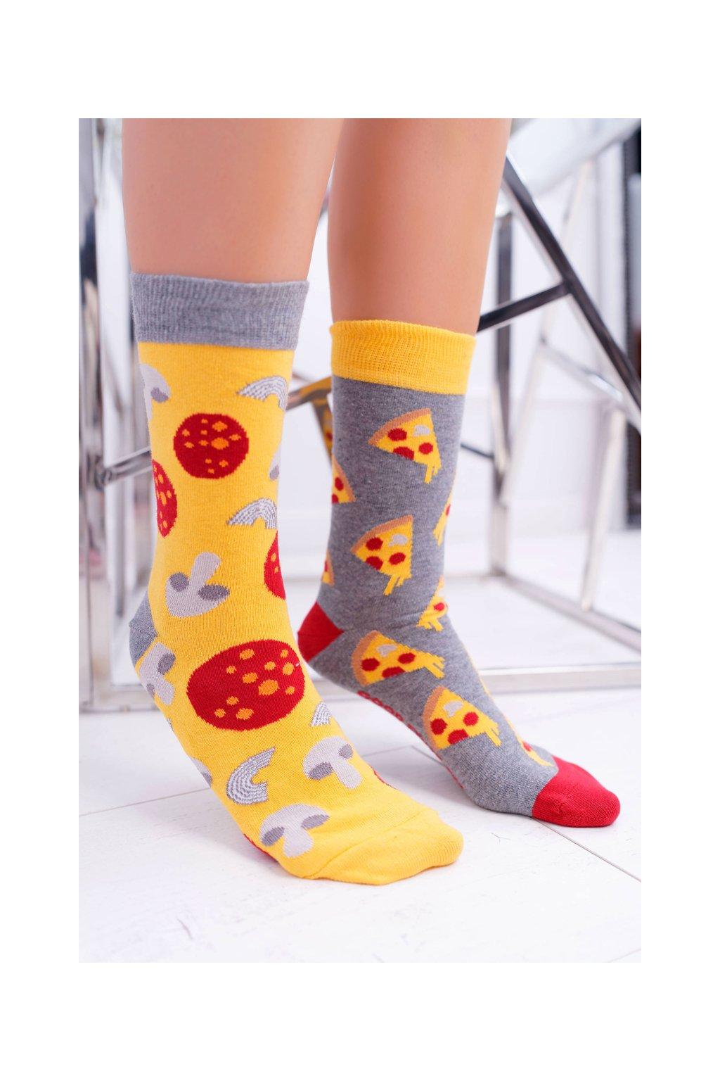 """Dámske ponožky SOXO Good Stuff """"každá iná"""" pizza"""