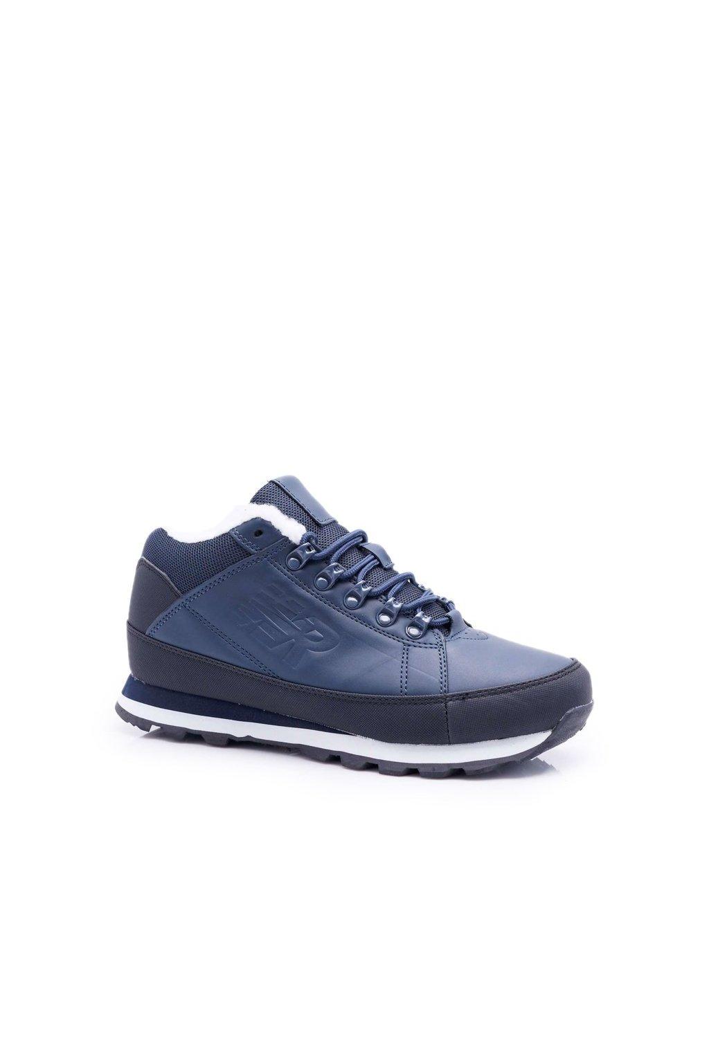 Pánske trekingové topánky farba modrá kód obuvi 9WH917 NAVY
