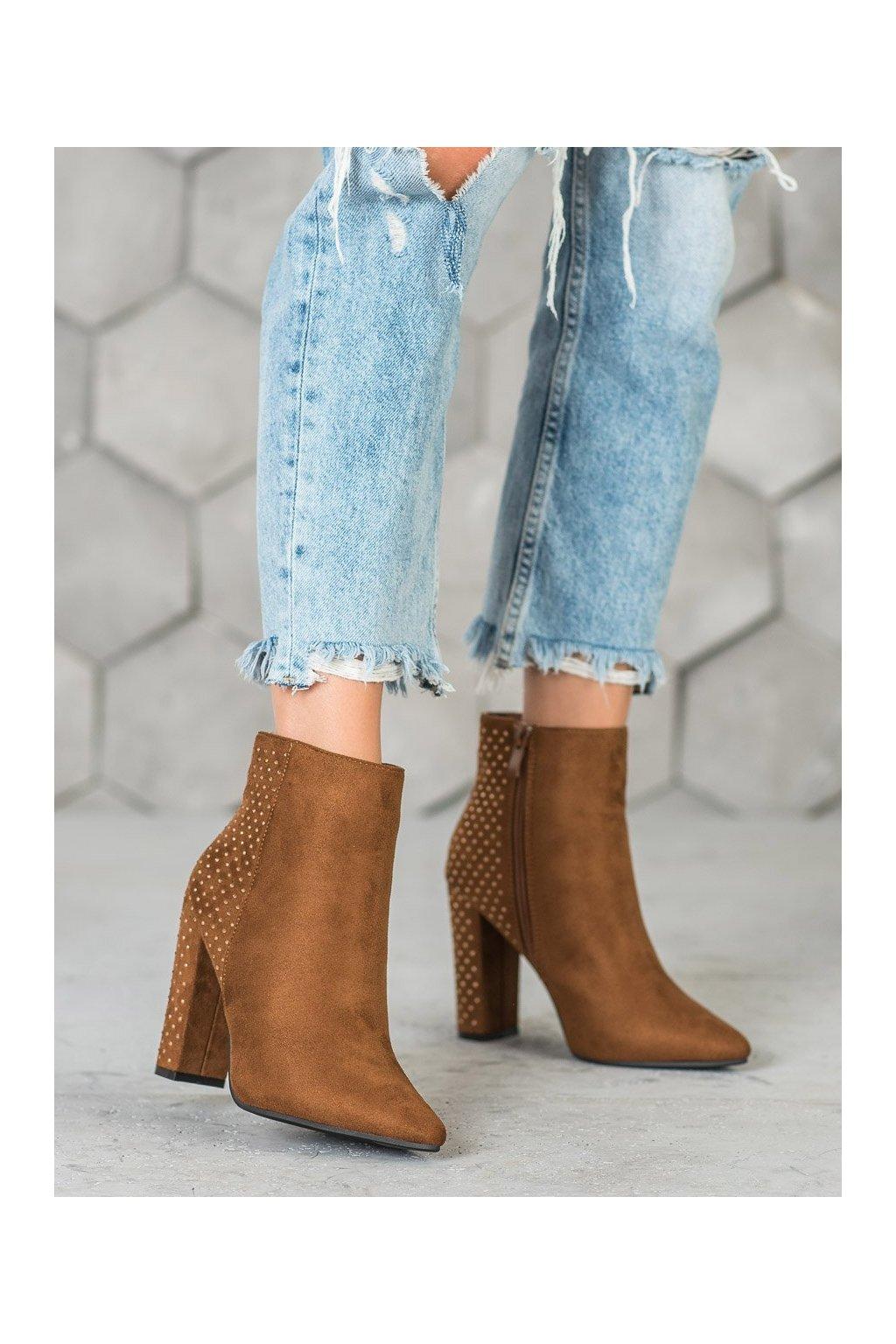 Hnedé dámske topánky Seastar kod NC899C