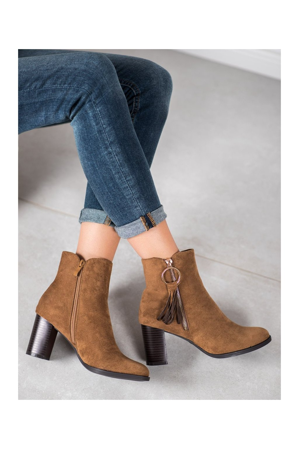 Hnedé dámske topánky Filippo kod DBT920/19BR