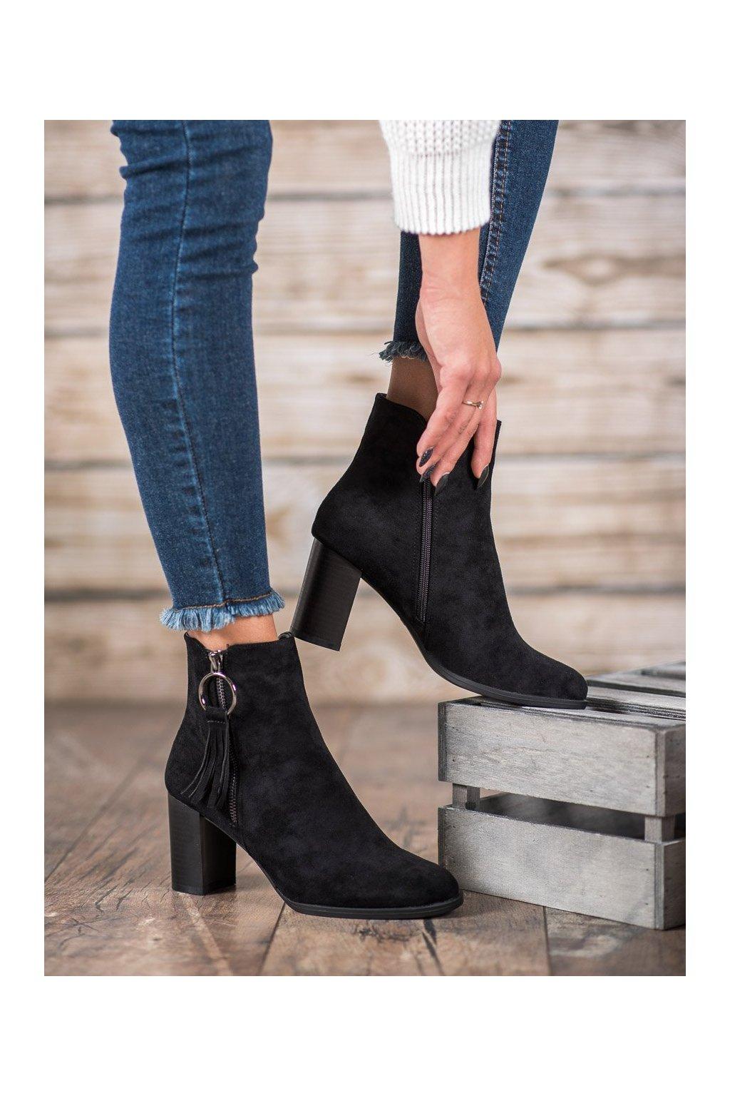 Čierne dámske topánky Filippo kod DBT920/19B
