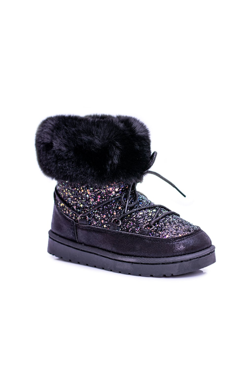 Teplé detské členkové topánky s kožušinou Crystal Fox