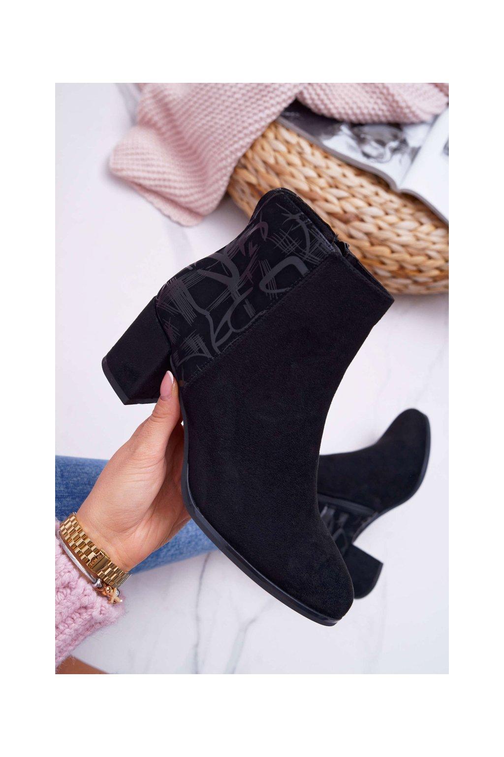 Dámske členkové topánky Sergio Leone čierne BT521