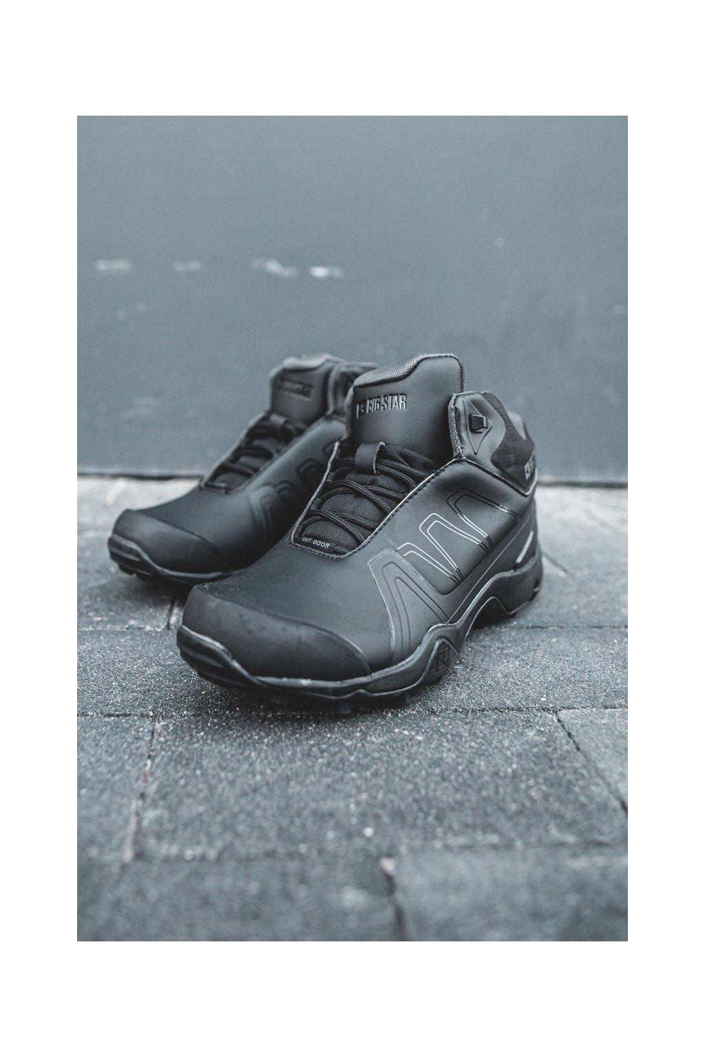 Pánske trekingové topánky farba čierna kód obuvi EE174458 BLK
