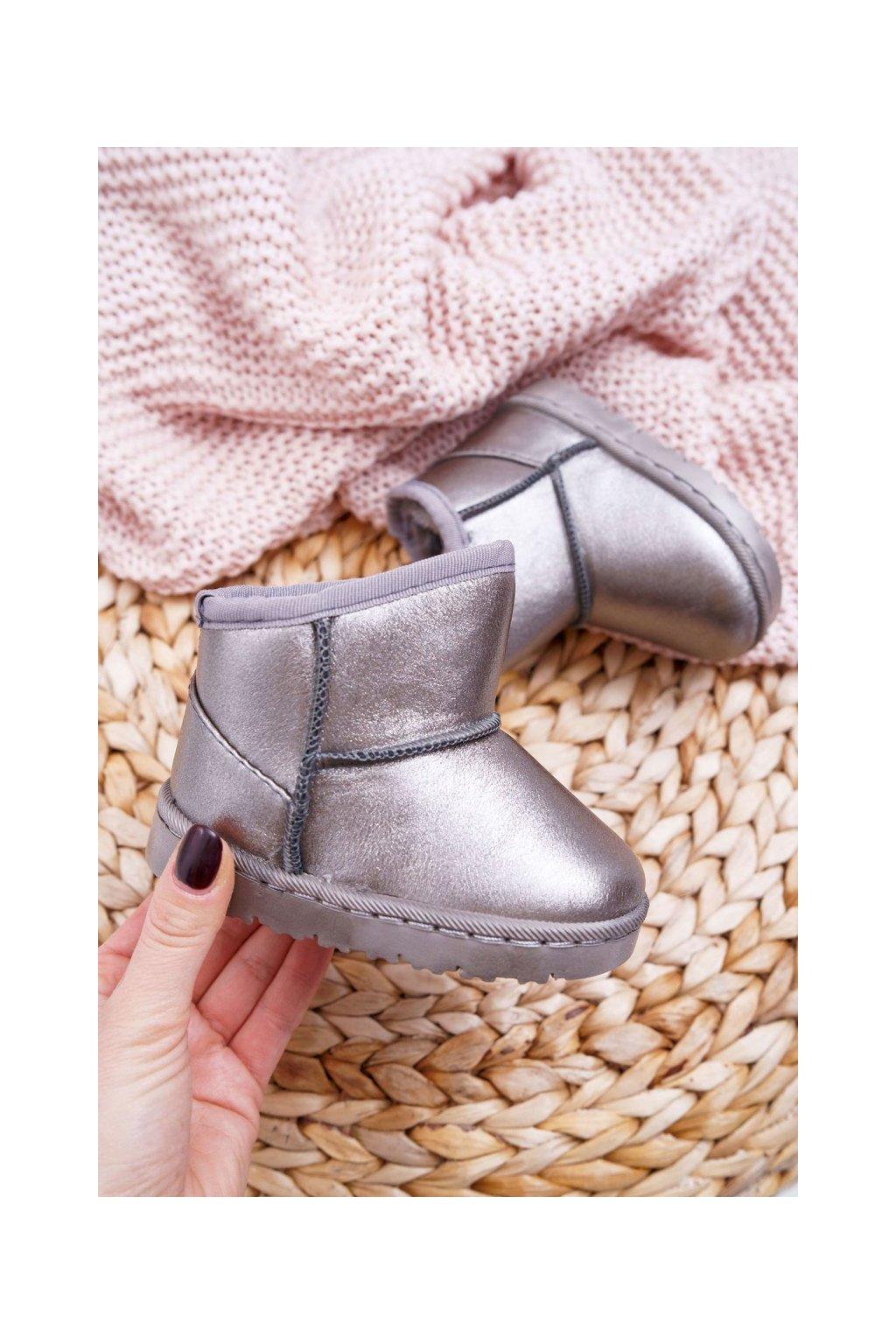 Detské snehule farba sivá kód obuvi 20220-1B/2B GRIS