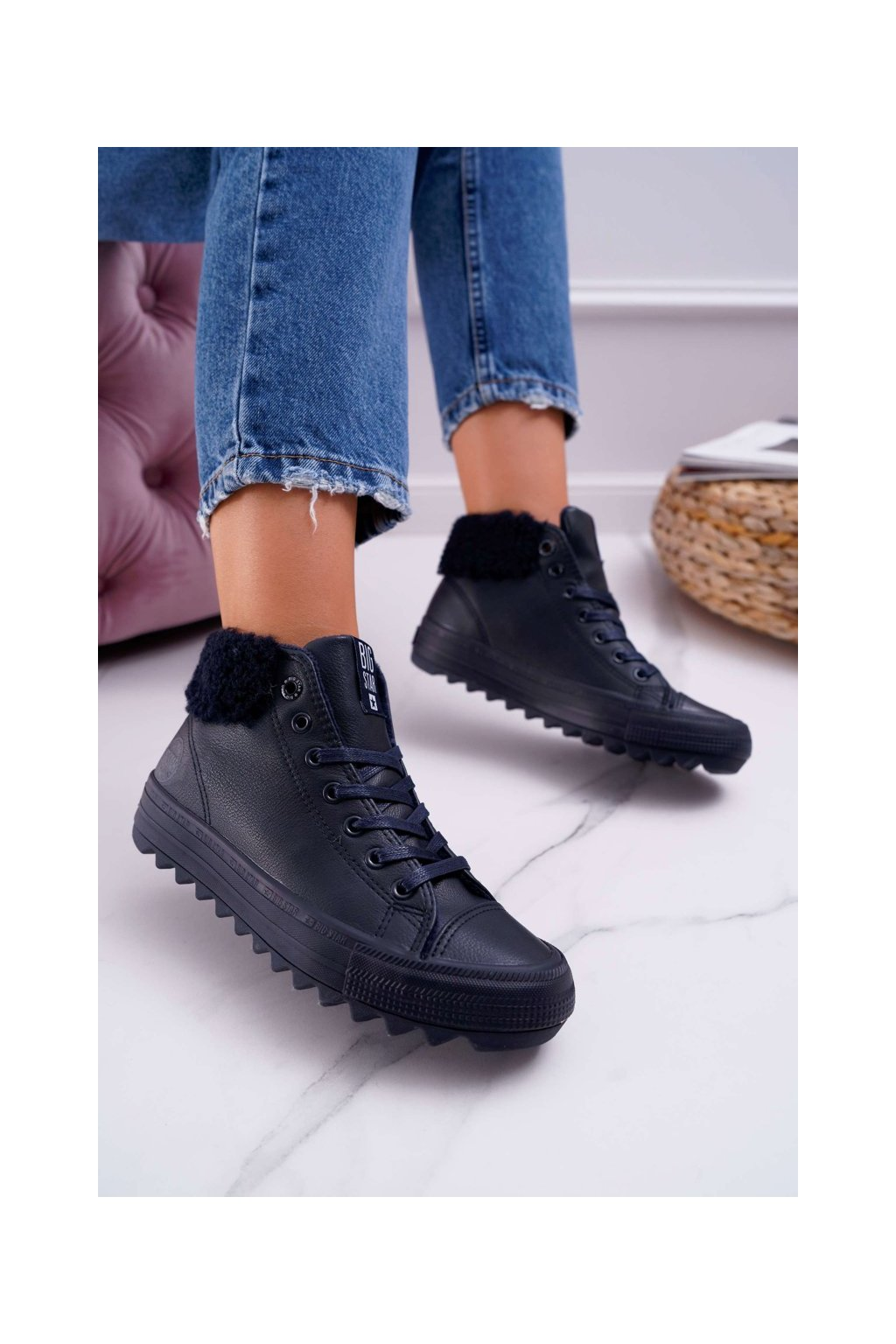 Dámske tenisky farba modrá kód obuvi EE274147 NAVY