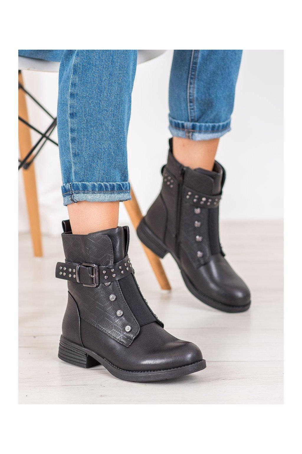 Čierne dámske topánky J. star kod V19014B