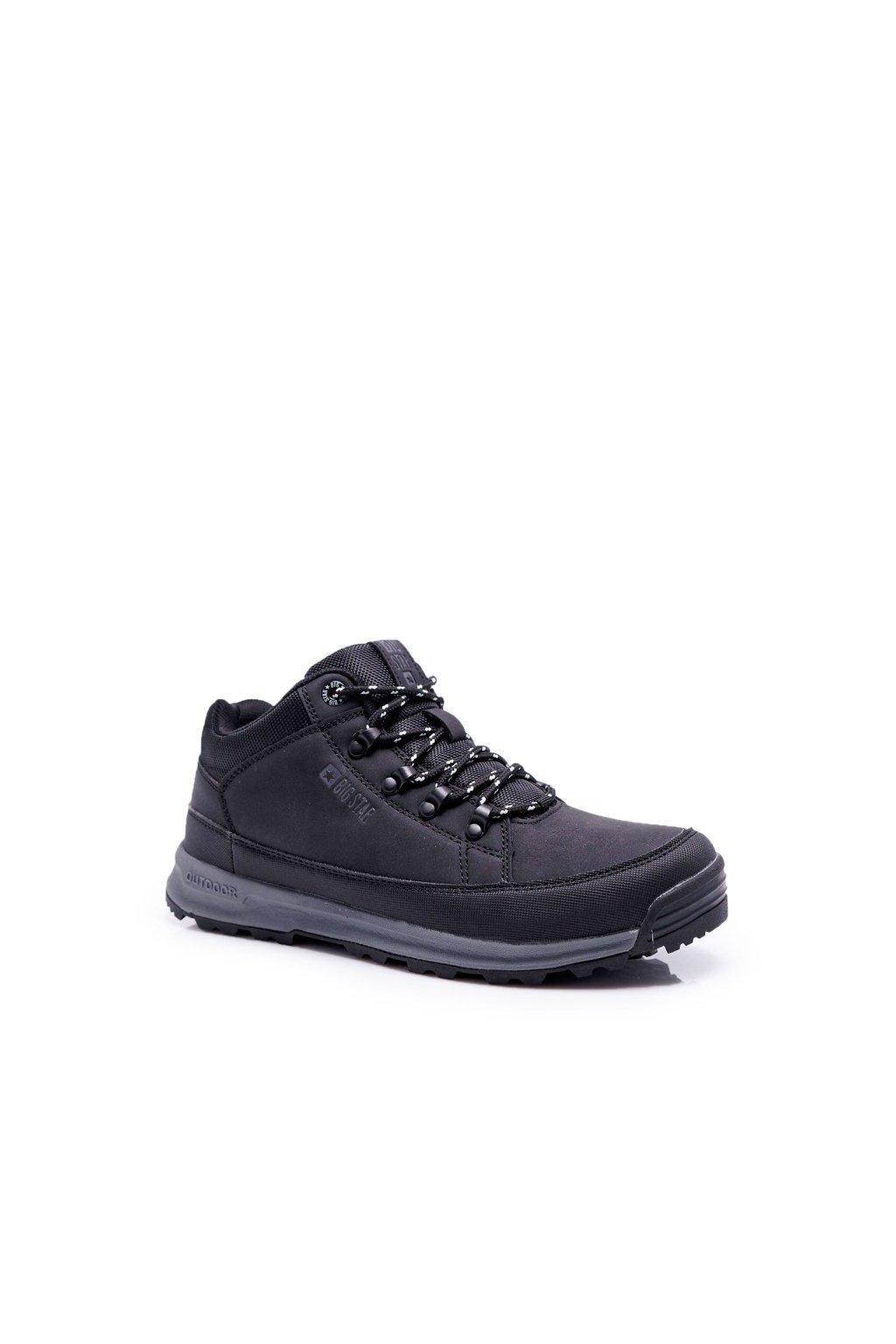 Pánske trekingové topánky farba čierna kód obuvi EE274816 BLK