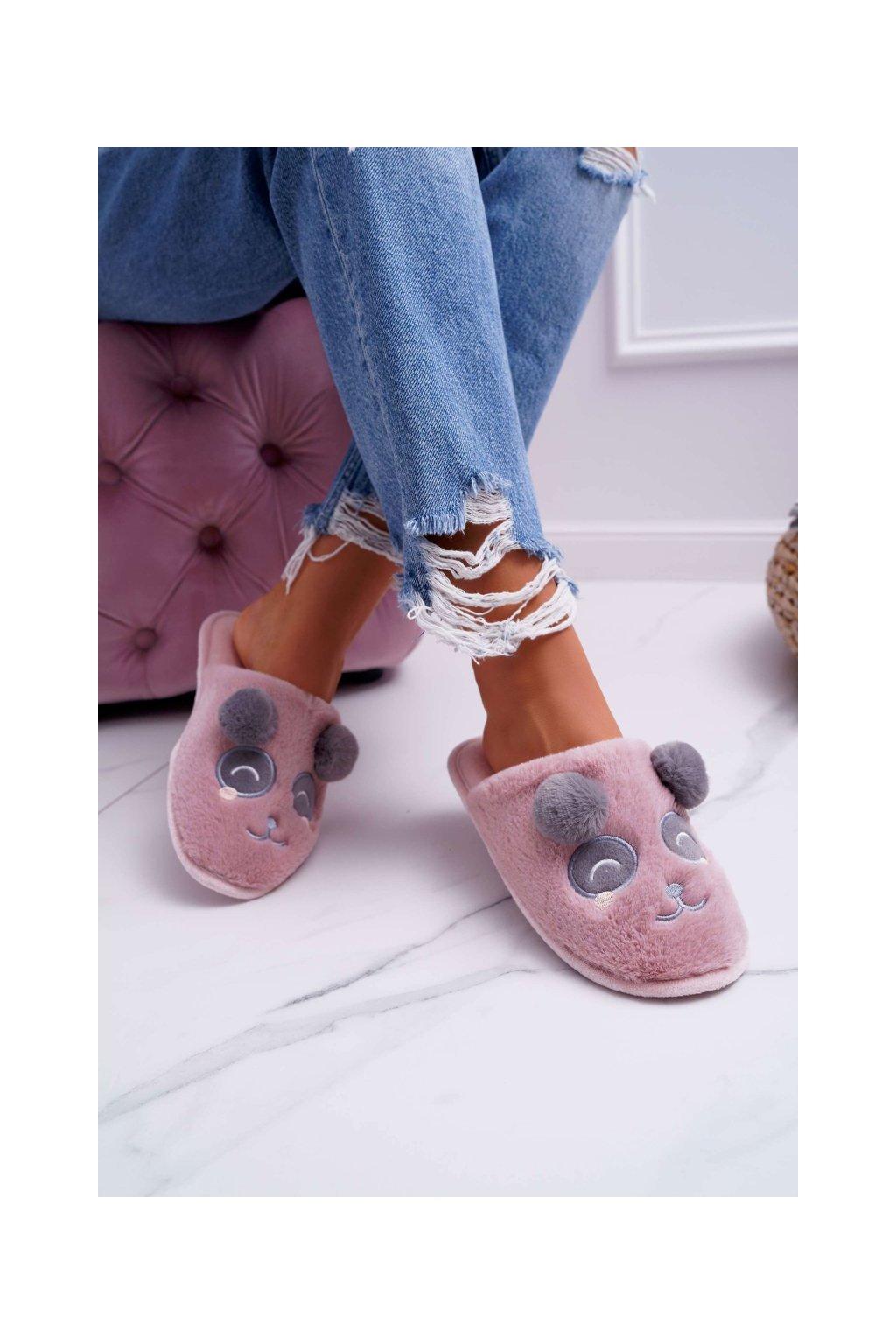 Dámske šľapky farba ružová kód obuvi KP03-12 D.PINK