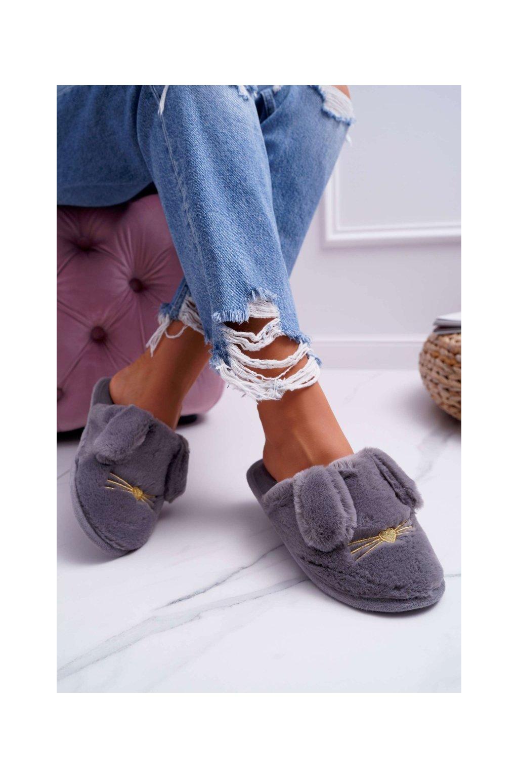 Dámske šľapky farba sivá kód obuvi KP02-9 GREY