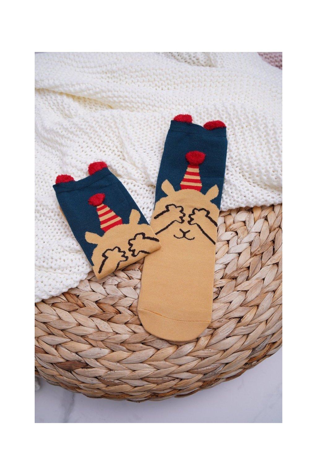 Dámske Ponožky vianočné s Ušima Medvídek