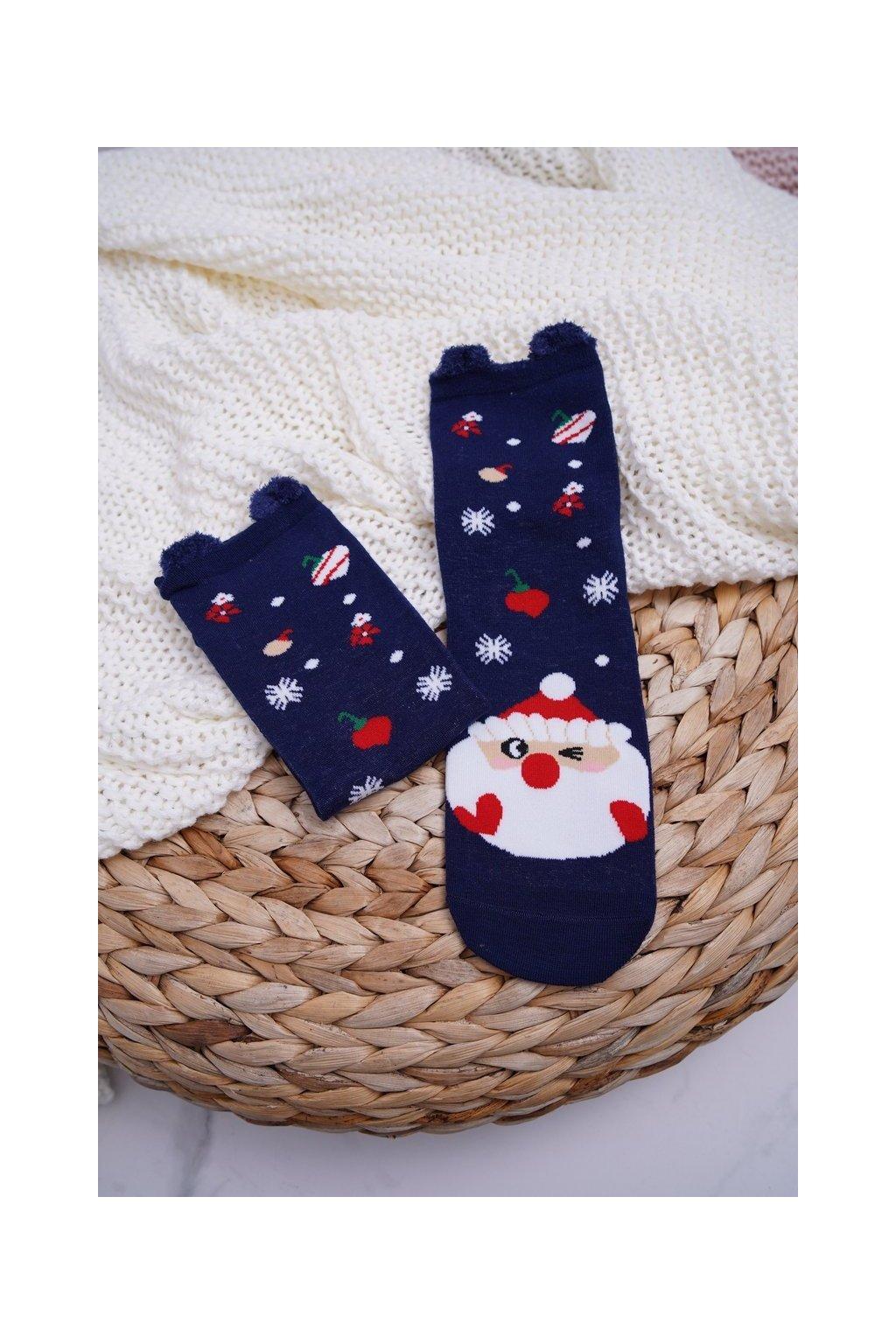 Dámske ponožky farba modrá kód DM-500 NAVY SANTA