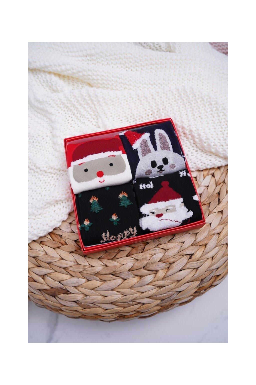 Dámske aromatické ponožky Sada 4 Páru vianočné COSAS A3