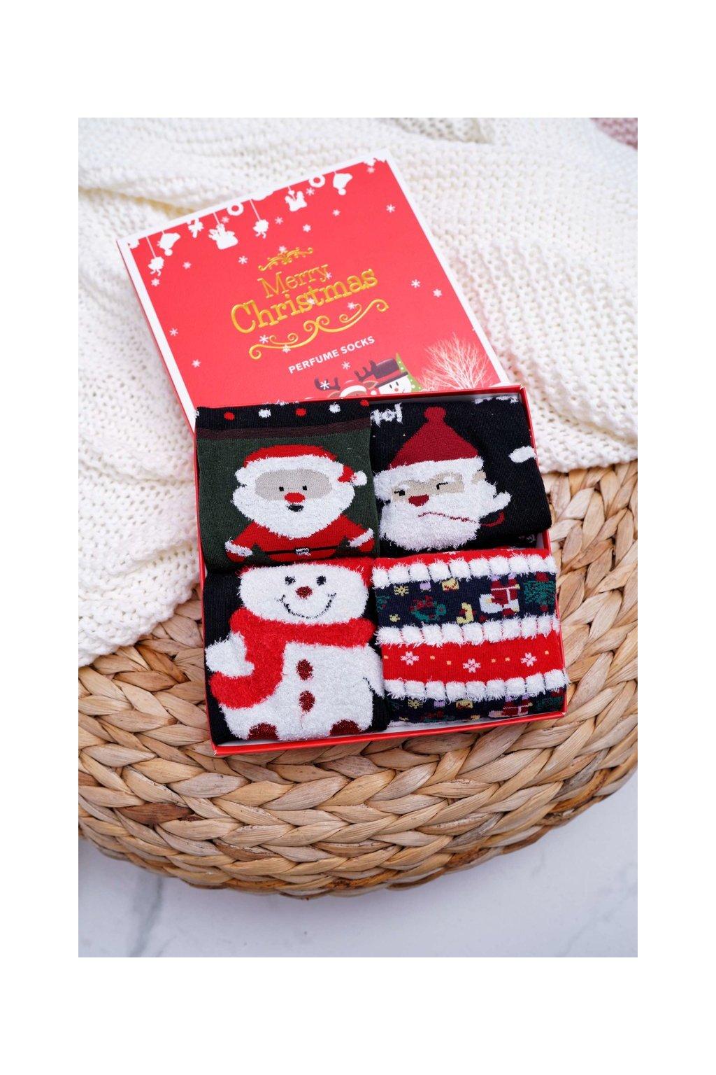 Dámske aromatické Ponožky Sada 4 Páru vianočné COSAS A8