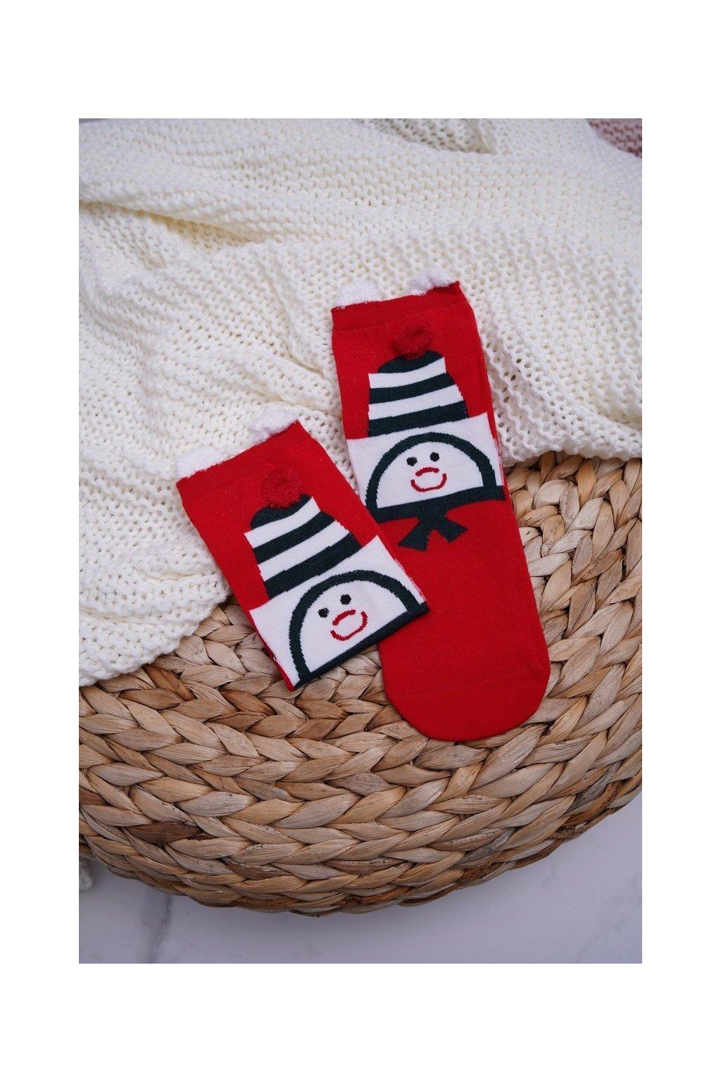 Dámske ponožky farba červená kód DM-500 SNOWMAN