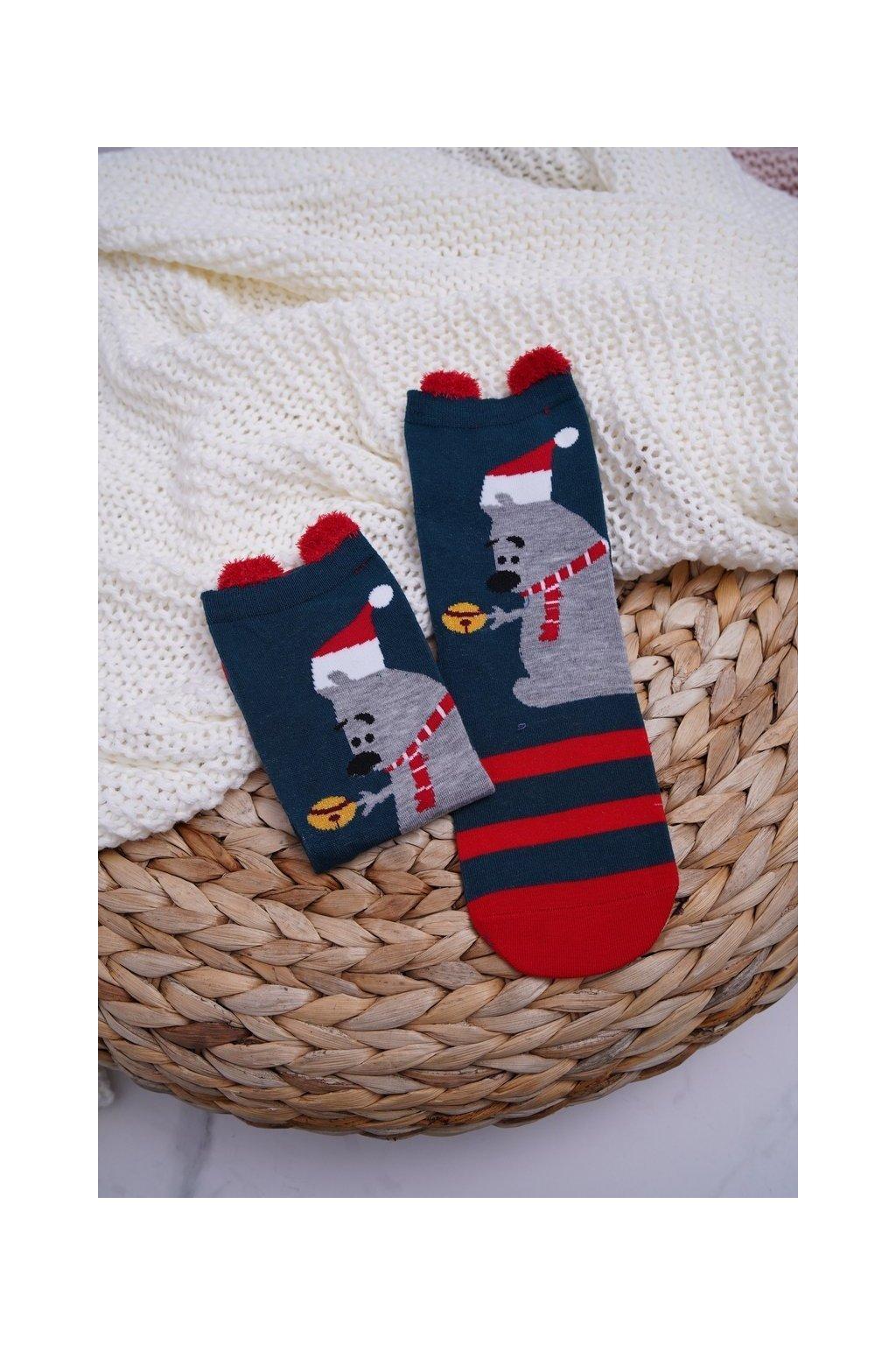 Dámske ponožky farba zelená kód DM-500 BEAR