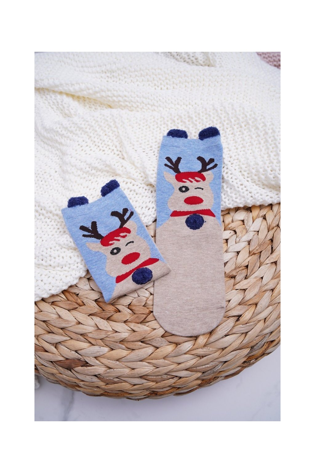 Dámske ponožky farba hnedá kód DM-500 REINDEER