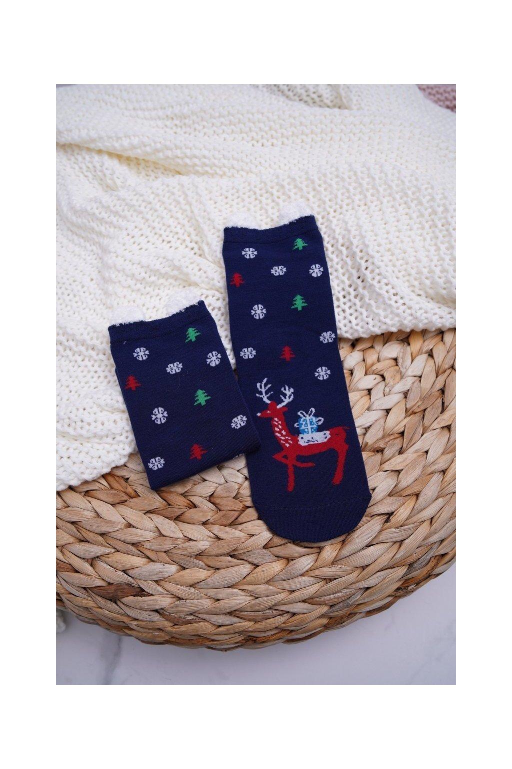 Dámske ponožky farba modrá kód DM-500 NAVY REINDEER