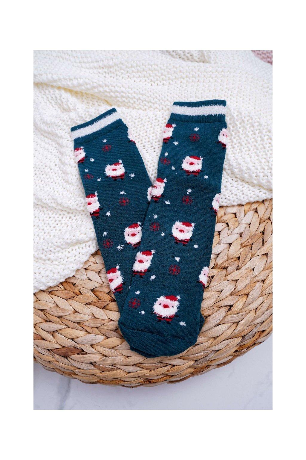 Dámske ponožky farba zelená kód SNV5089 GREEN SANTA