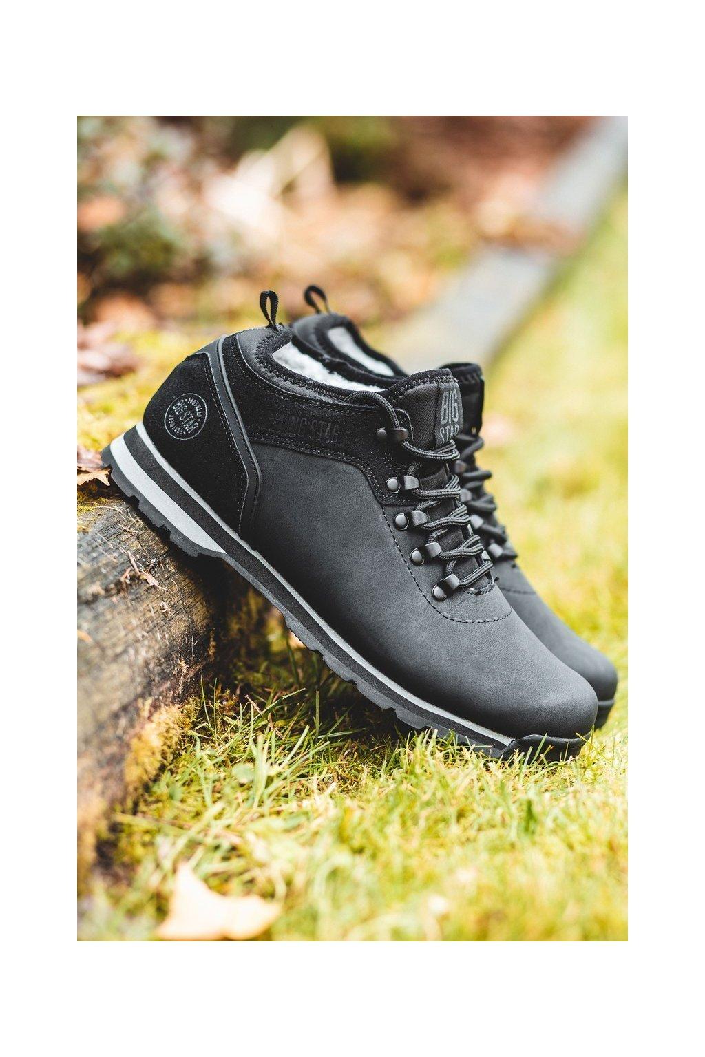 Pánske trekingové topánky farba čierna kód obuvi EE174444 BLK