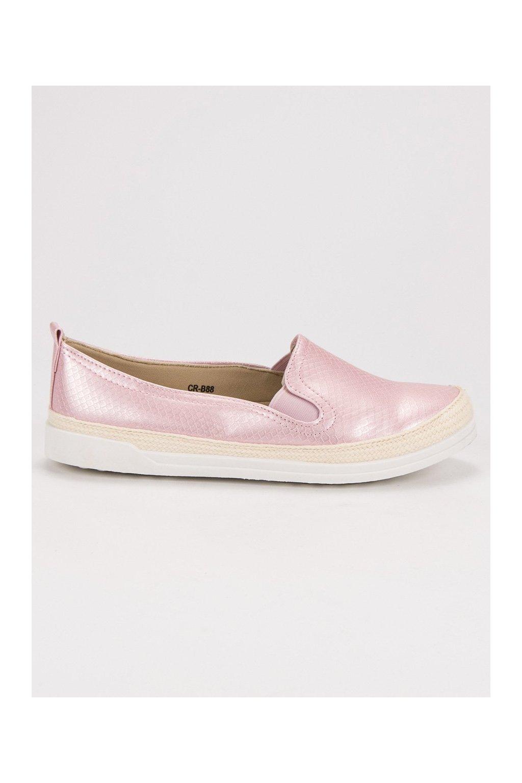 Ružové tenisky slip on CnB