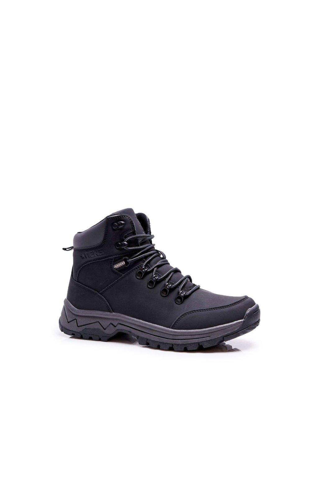 Pánske trekingové topánky farba čierna kód obuvi 9TR85-1420 BLK