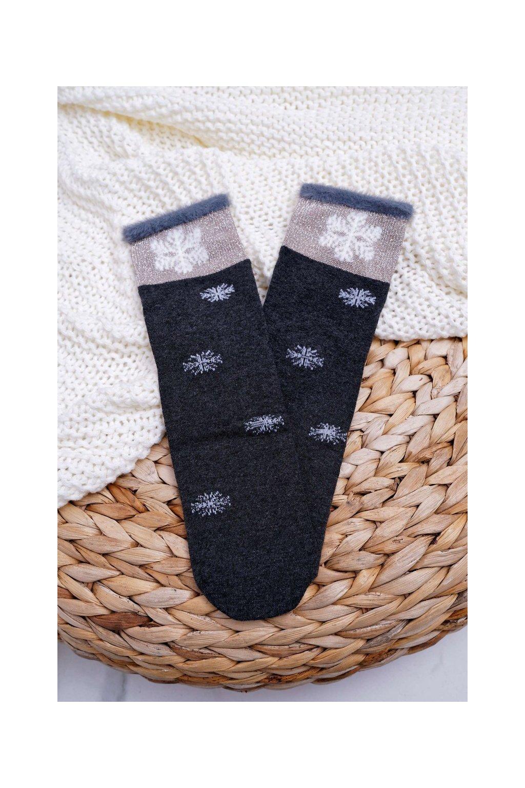 Dámske ponožky farba sivá kód LM2-5 D.GREY