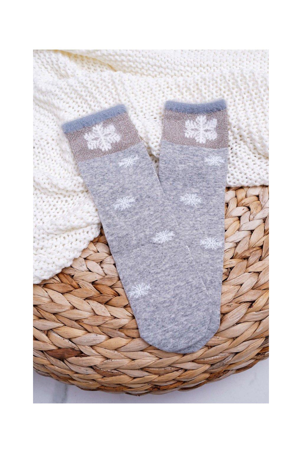 Dámske ponožky farba sivá kód LM2-5 GREY