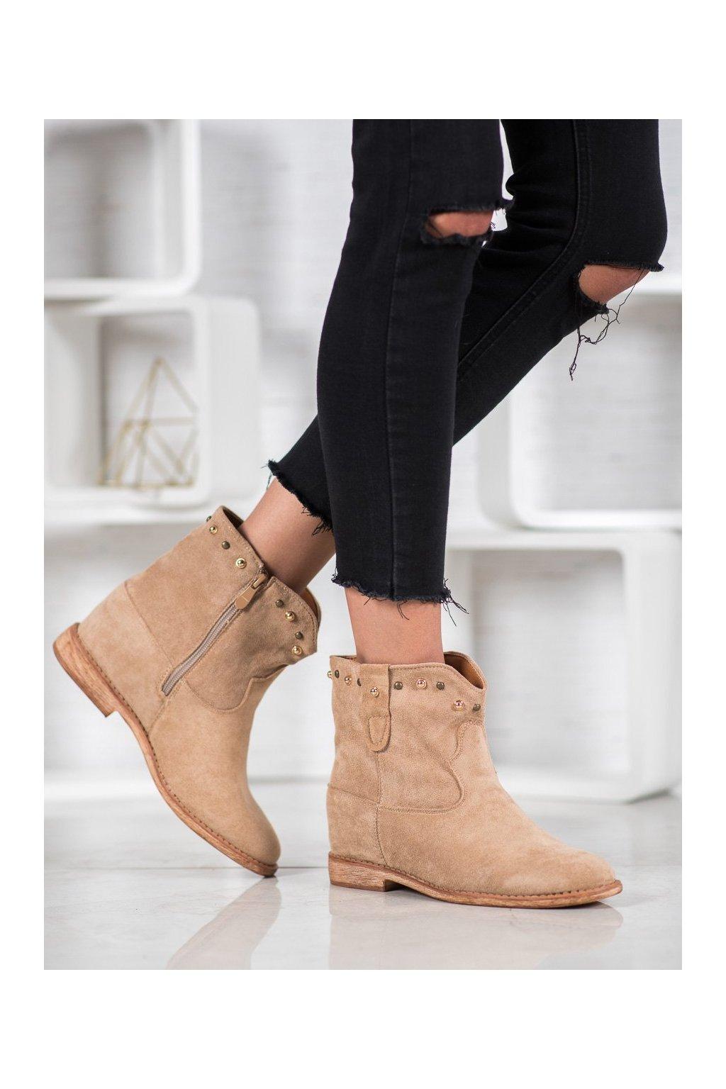 Hnedé dámske topánky Bella paris kod A3710KH