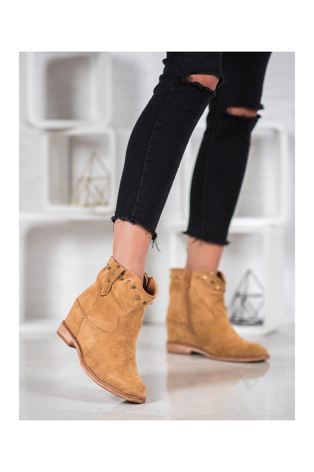 Hnedé dámske topánky Bella paris kod A3710C