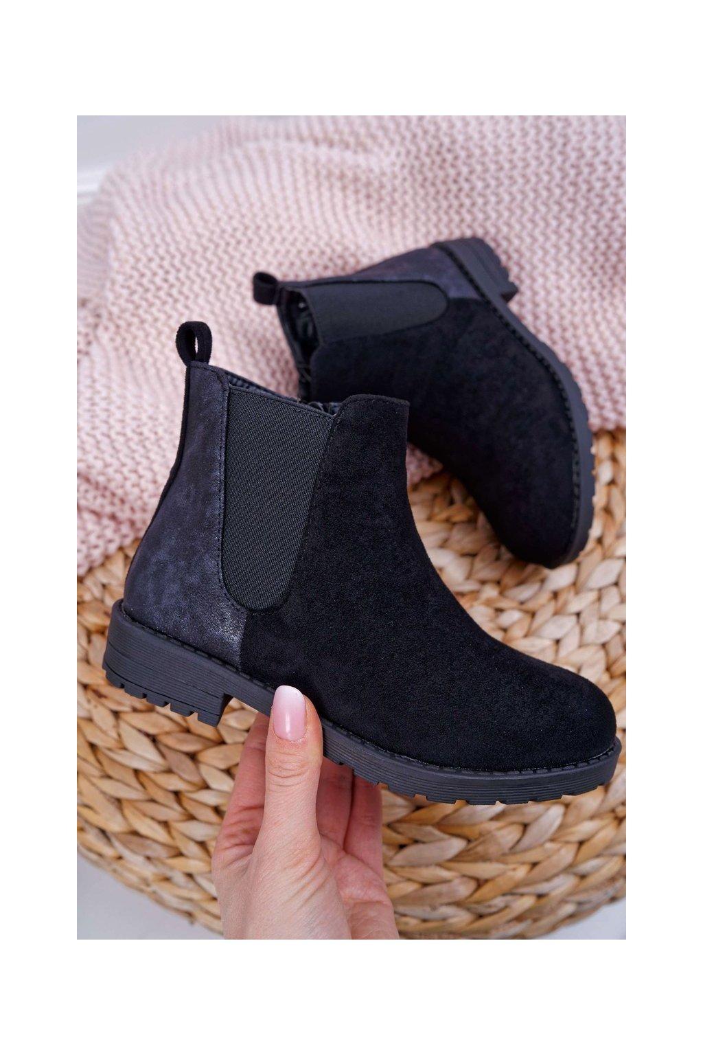 Detské členkové topánky čierne Mergolo
