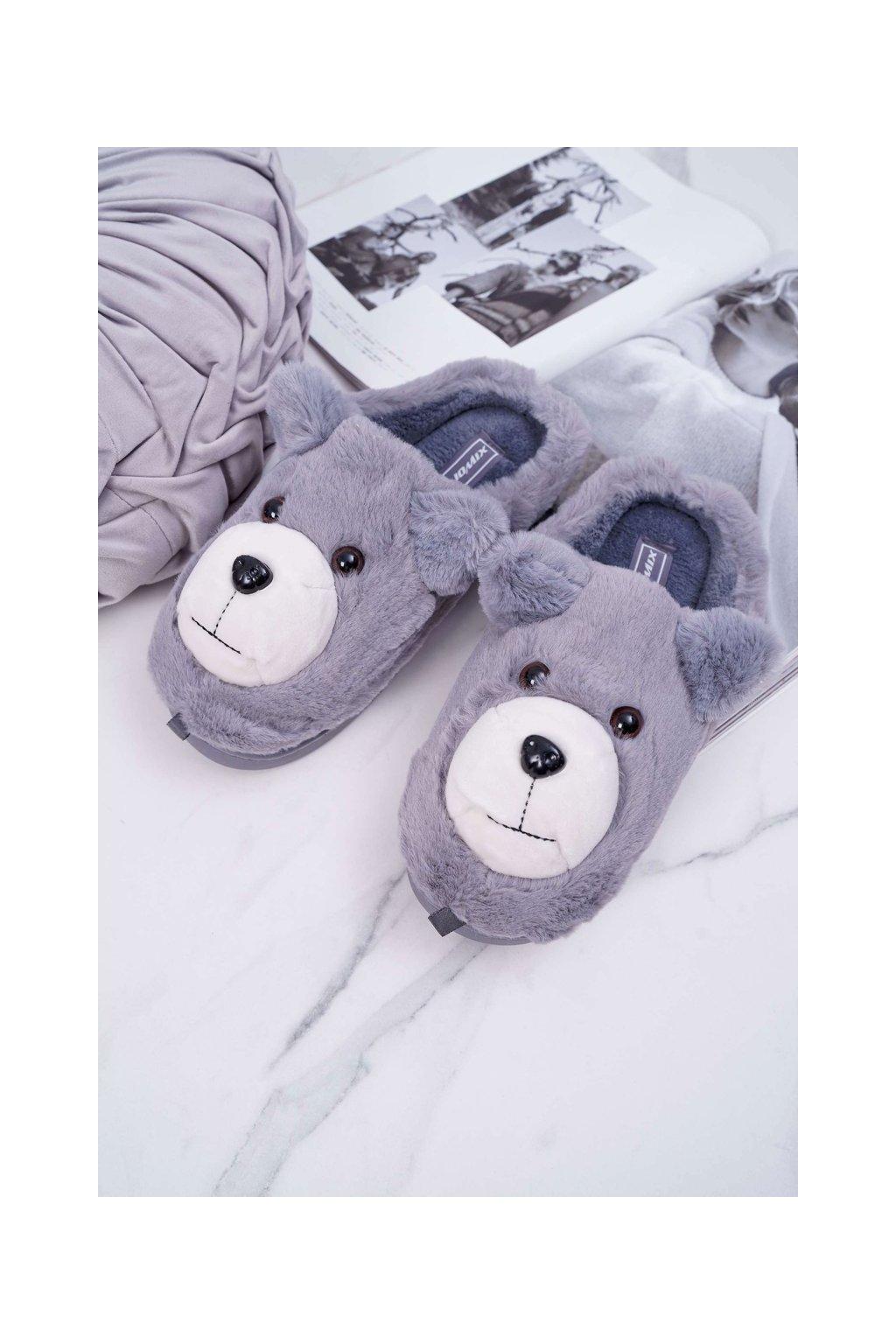 Dámske šľapky farba sivá kód obuvi MD0197 GREY