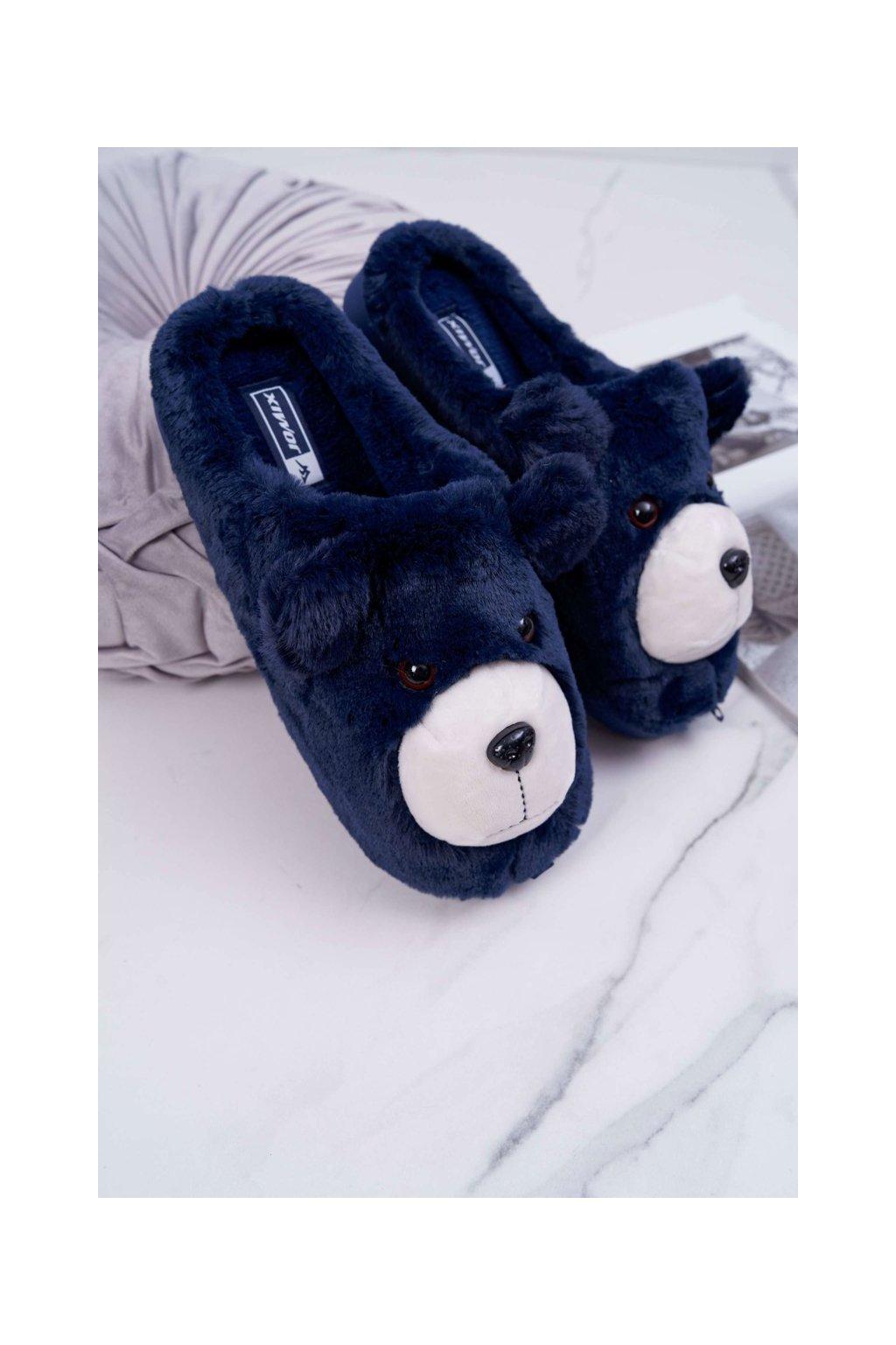 Dámske šľapky farba modrá kód obuvi MD0197 NAVY