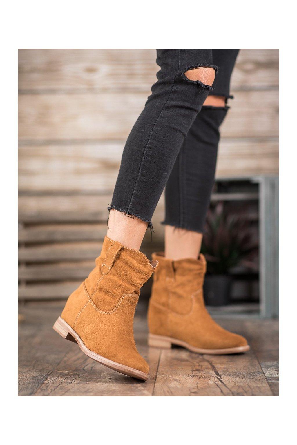 Hnedé dámske topánky Seastar kod NC952C