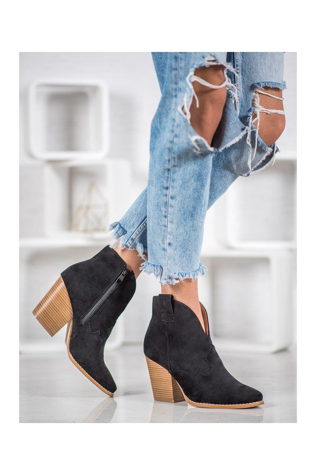 Čierne dámske topánky Bella paris kod A5607B