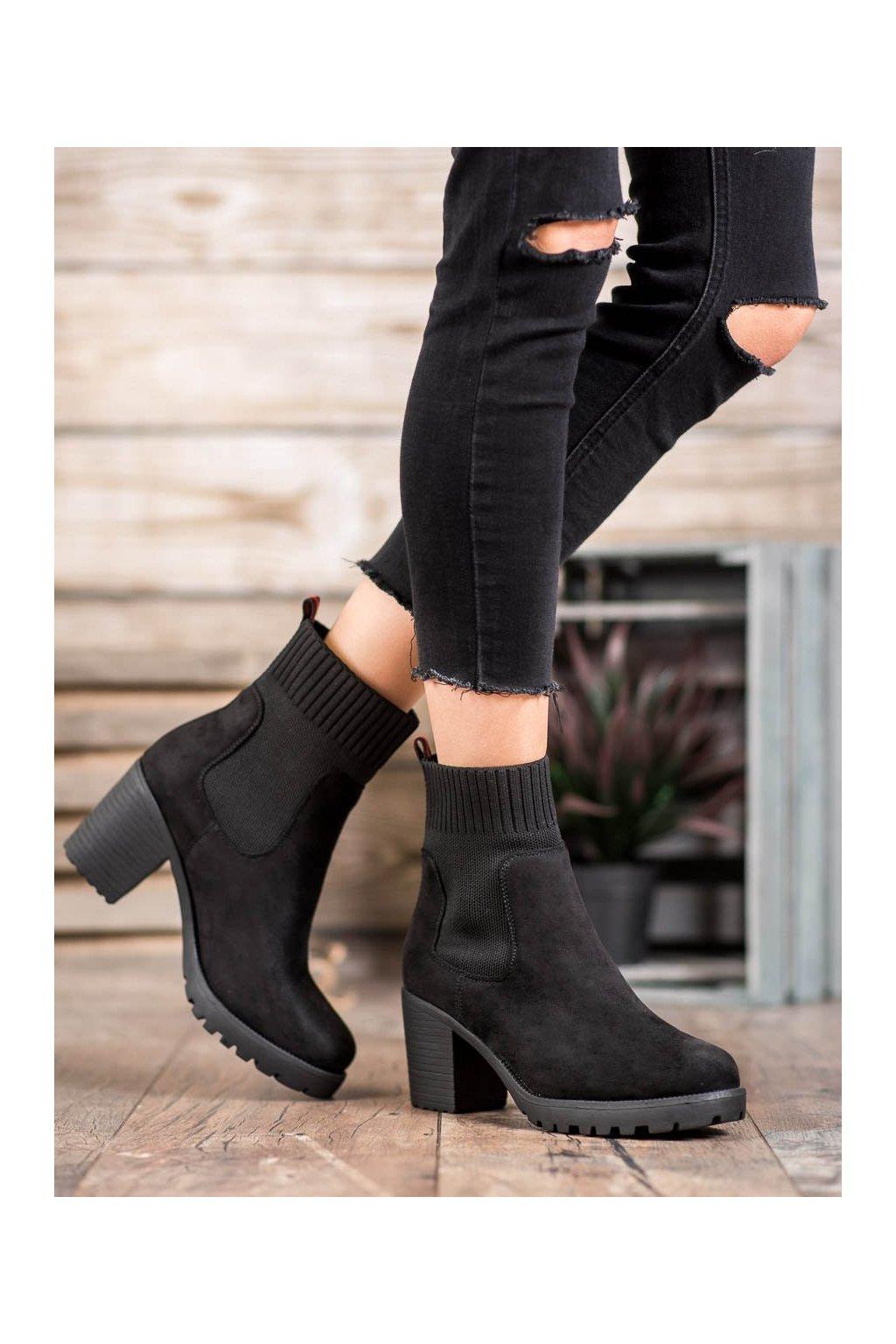 Čierne dámske topánky Erynn kod M370B
