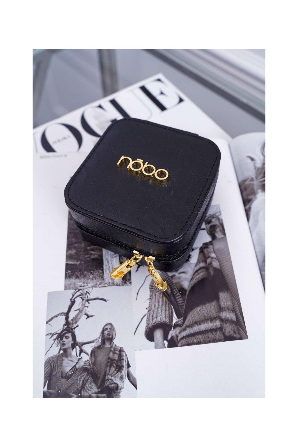 Malá Dámska šperkovnica NOBO čierna NBOX-I08-C020