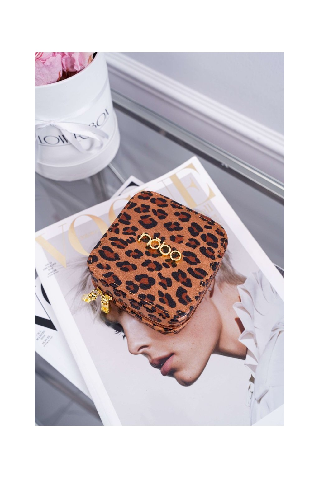 Malá Dámska šperkovnica NOBO Leopard NBOX-I08-C017