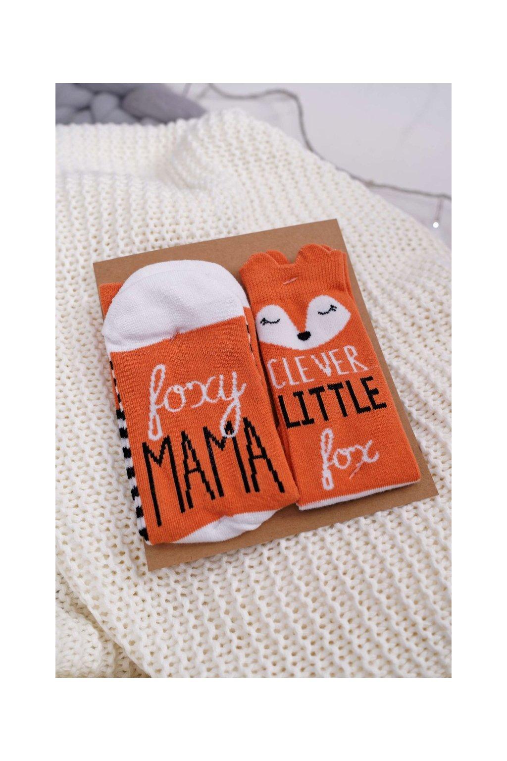 Sada dámskych a detských ponožiek SOXO Foxy Mama Clever Little Fox