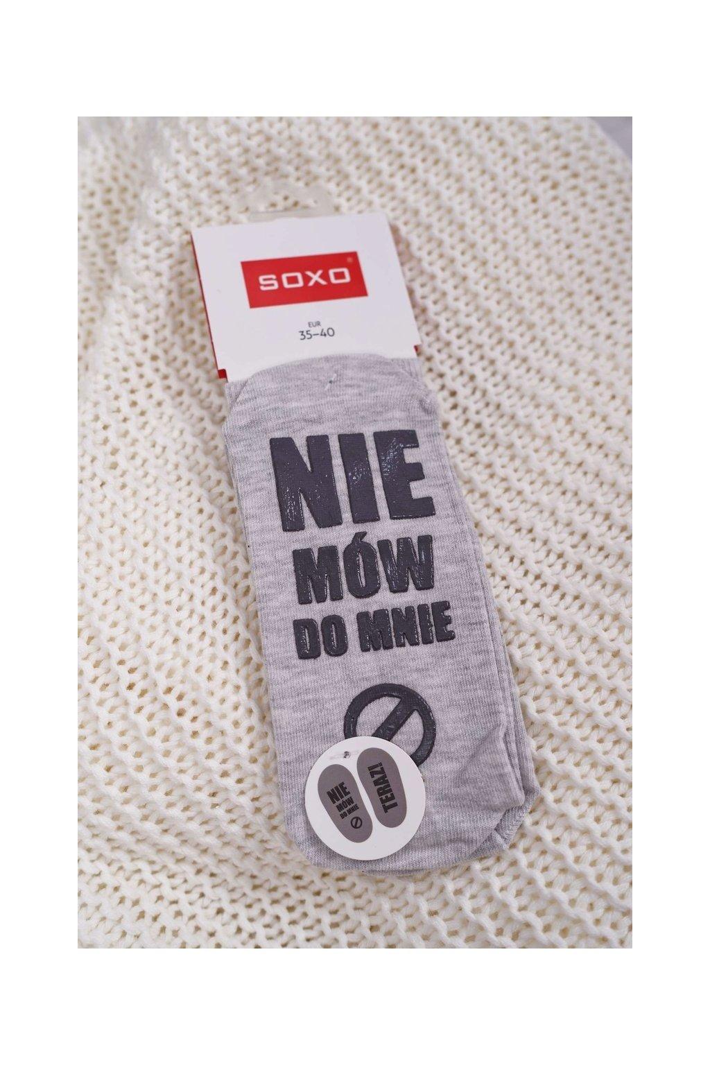 Dámske Ponožky SOXO s nápisem
