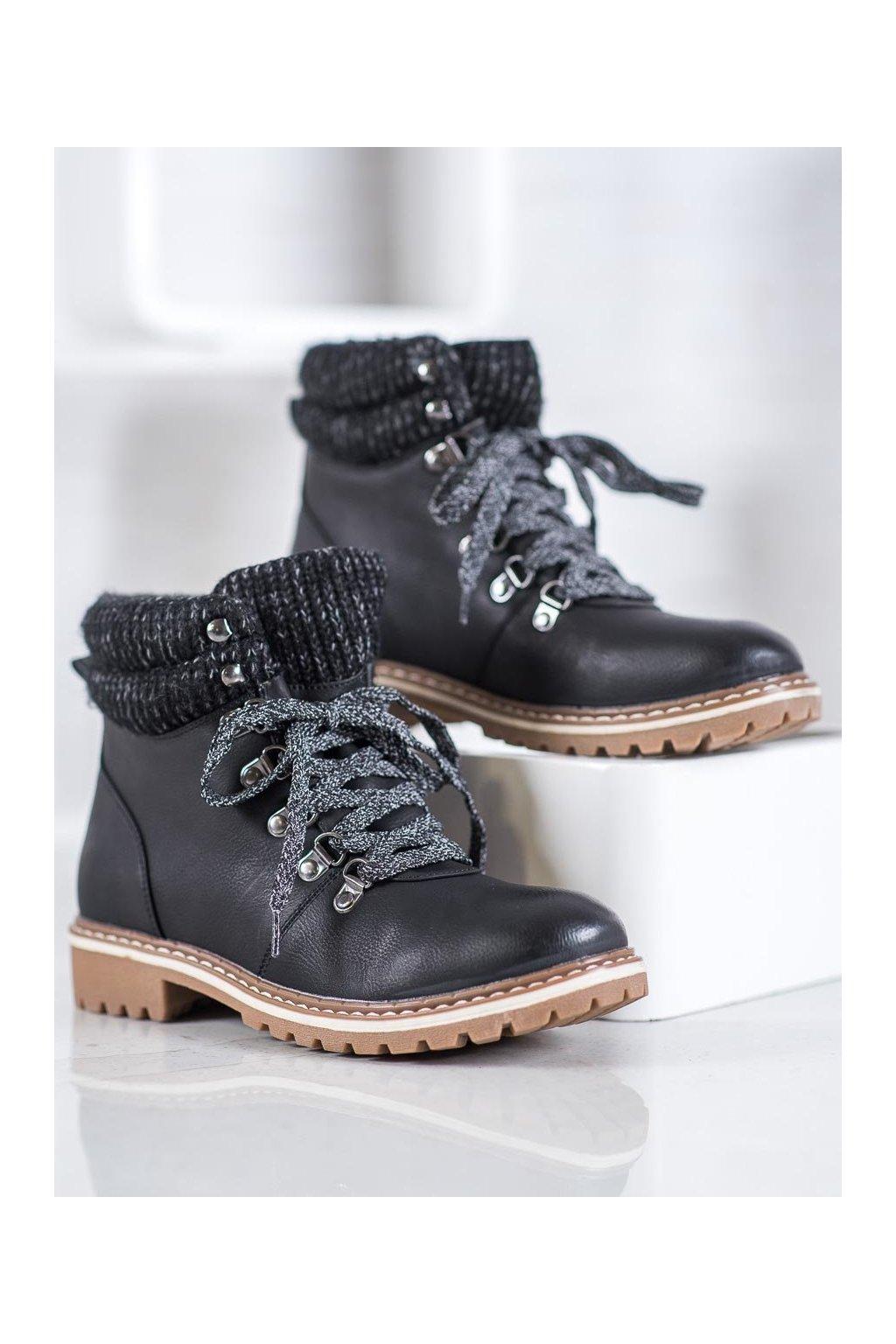 Čierne dámske topánky Goodin kod GD-BM-125B