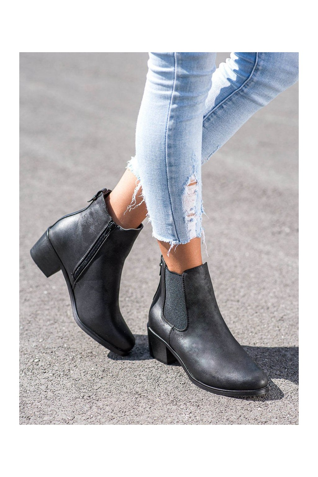 Čierne dámske topánky Goodin kod GD-DS-07B