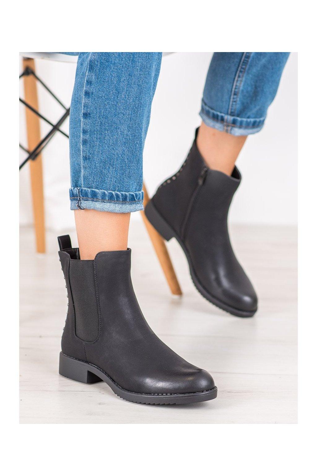 Čierne dámske topánky J. star kod A8048/A-B