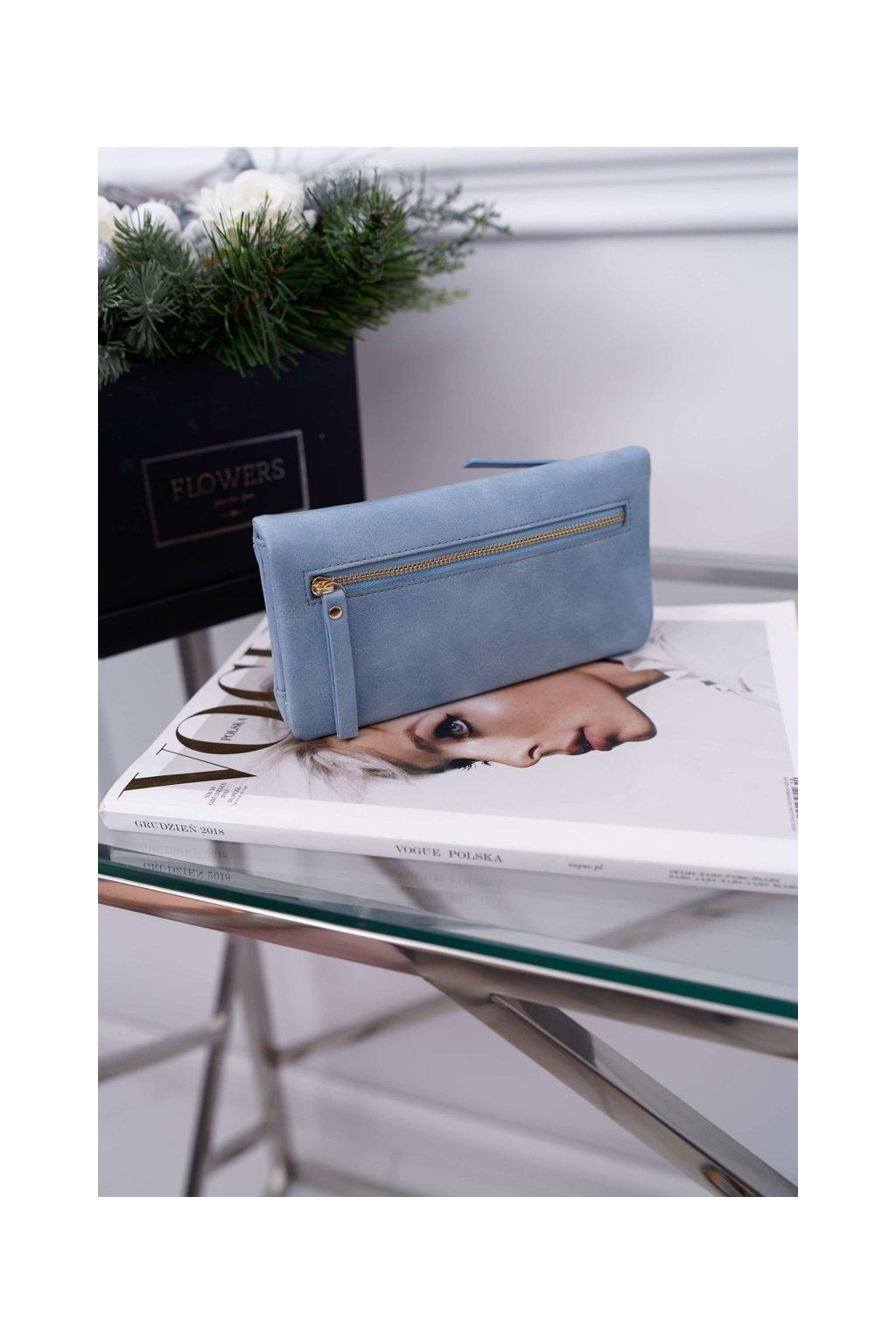 Dámska Peňaženka Velká modrá se zapínáním na druk
