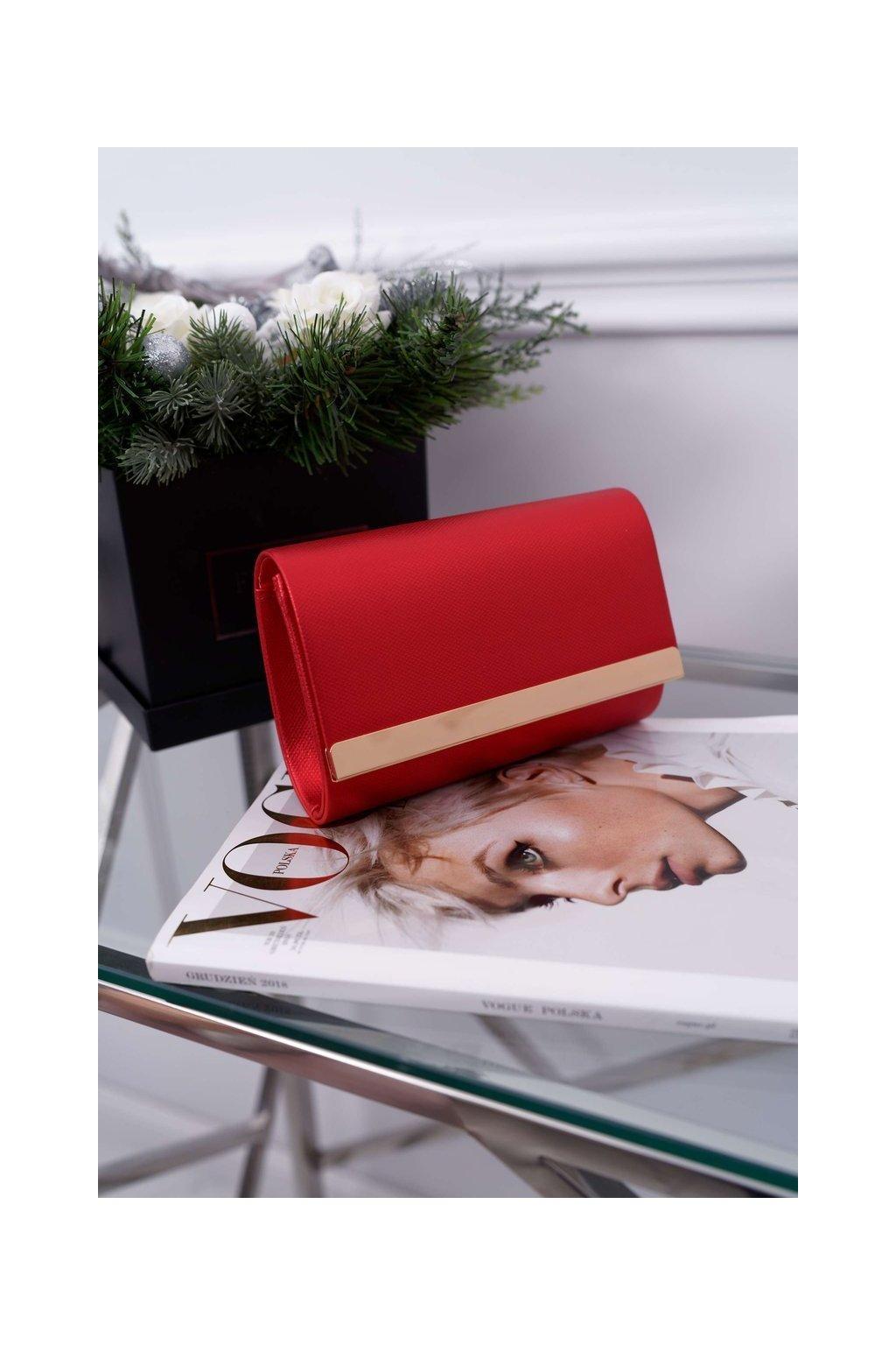 Dámska večerní kabelka červená