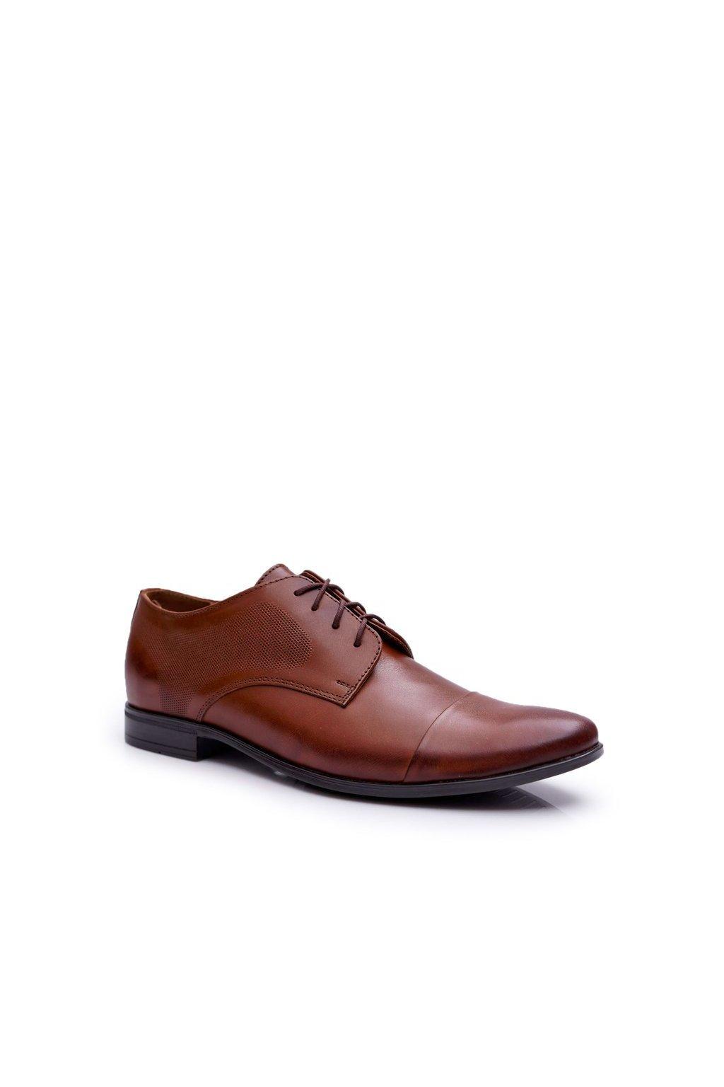 Pánske poltopánky farba hnedá kód obuvi 710 BRĄZ