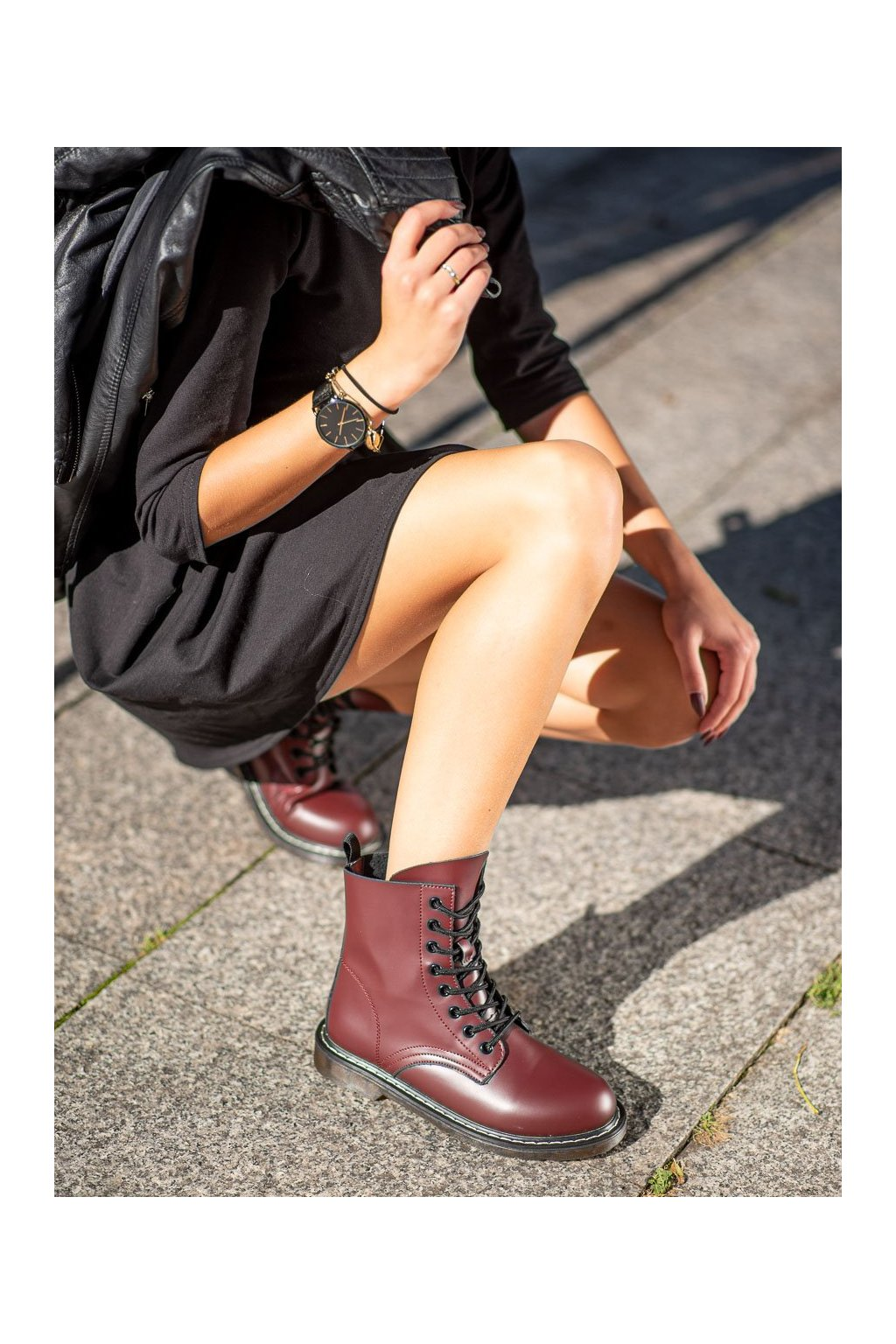 Červené dámske topánky Kylie kod K1938501BUR