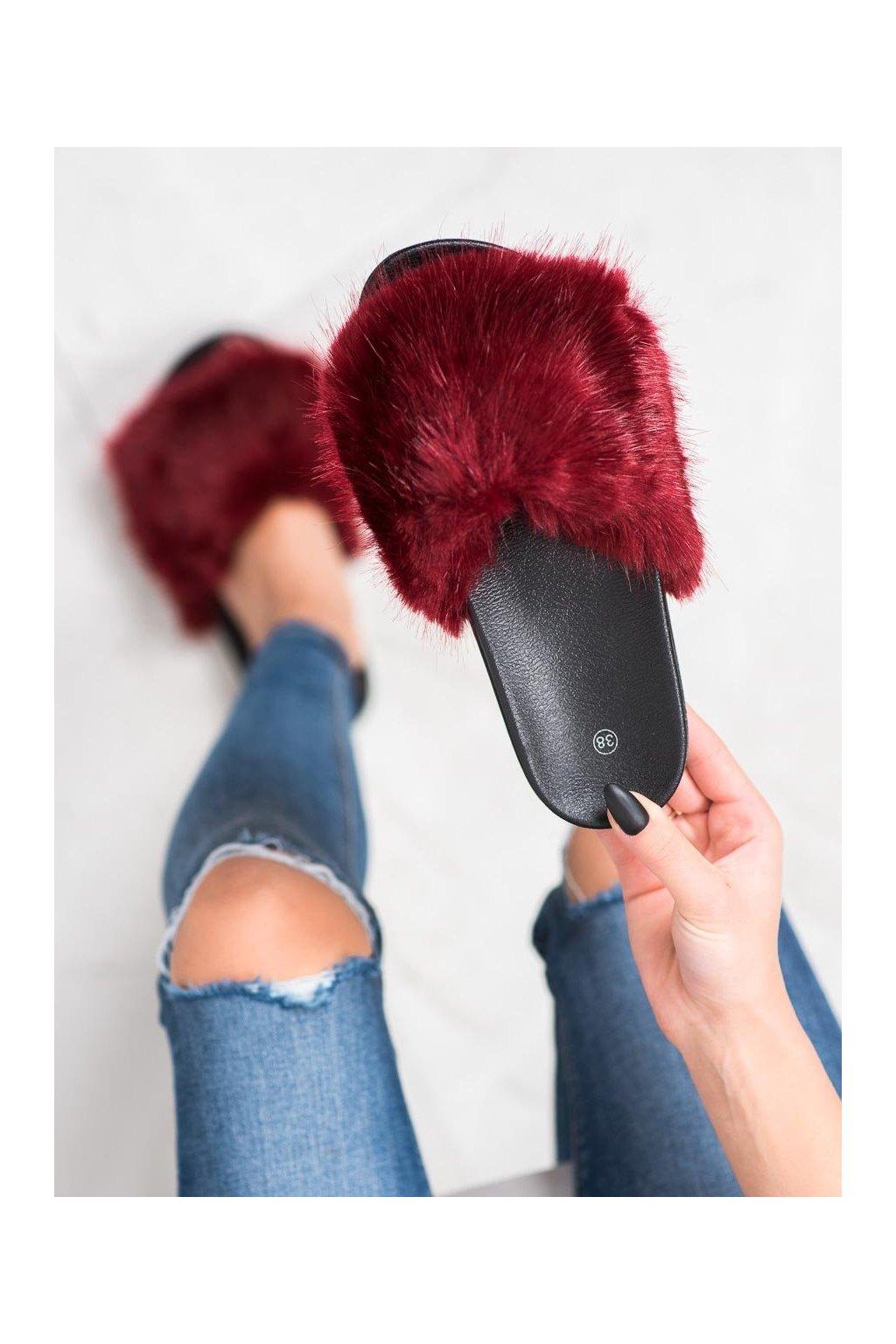 Červené dámska obuv na doma Shelovet kod CK107WI